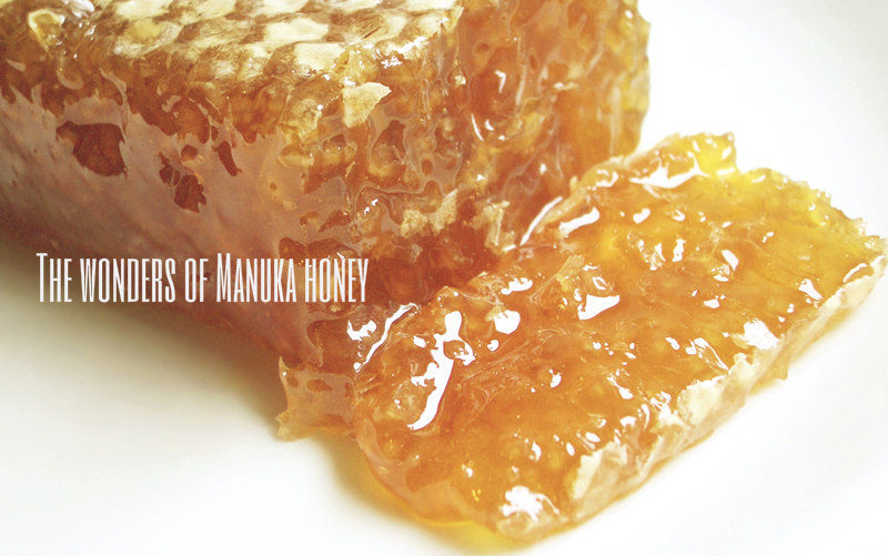 An image of manuka honey comb